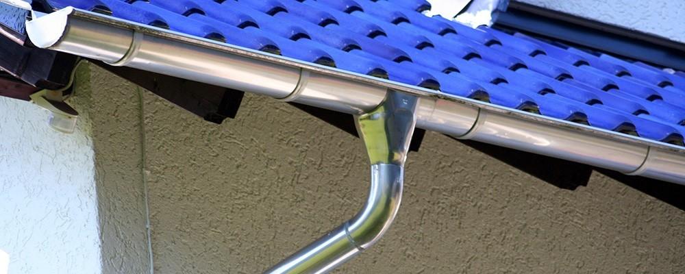 Dachentwässerung – walzblank